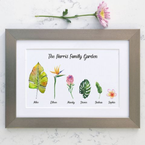 Personalised Flower Family Garden Art